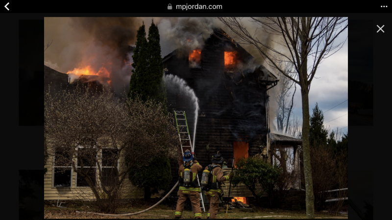 2nd Alarm House Fire on Cabbage Spring Road in Mt  Airy