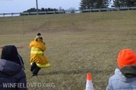 The turnout gear relay race.